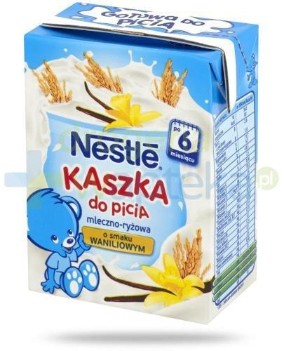 Kaszka Nestlé do picia mleczno-ryżowa o smaku waniliowym po 6 miesiącu 200 ml