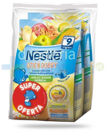 Kaszka mleczna Nestlé Dzień dobry ryżowo-kukurydziana jabłko, banan i morela po 9 mies...