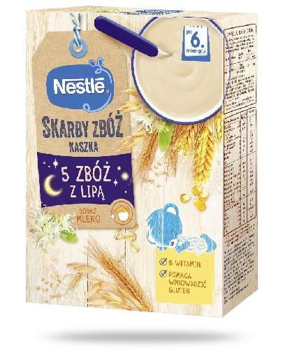 Kaszka Nestlé Radosny Brzuszek 5 zbóż z lipą po 6 miesiącu 250 g + Nestlé batonik ow...