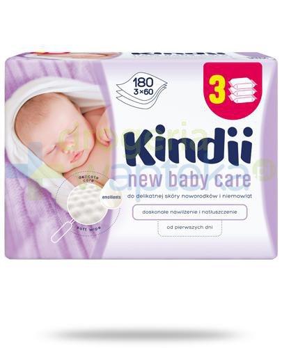 Kindii New Baby Care chusteczki nawilżane do delikatnej skóry noworodków i niemowląt 3...