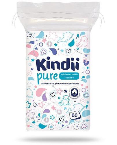 Kindii Pure miękkie bawełniane płatki dla niemowląt 60 sztuk [Baby Sensitive, Cleanic ...