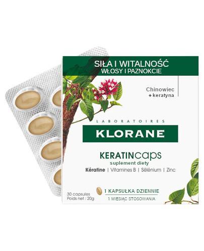 Klorane KeratinCaps Siła i Witalność kuracja wzmacniająca włosy i paznokcie 30 kapsułek