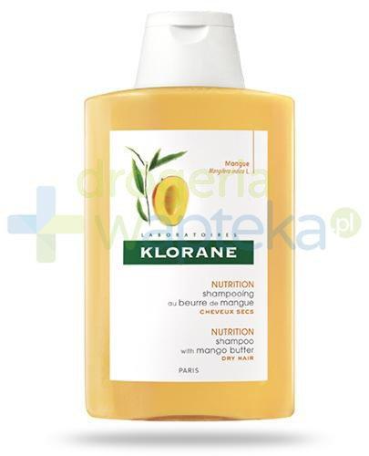 Klorane Nutrition szampon odżywczy do włosów suchych na bazie masła z mango 400 ml