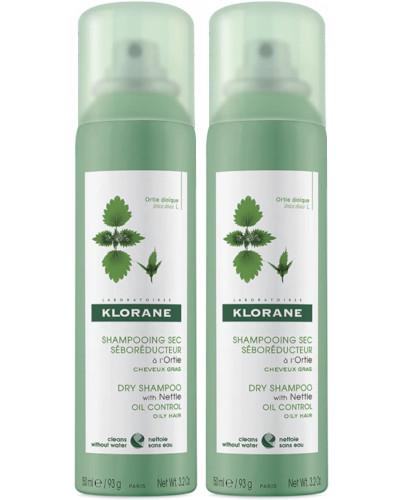 Klorane seboregulujący szampon suchy z wyciągiem z pokrzywy do włosów tłustych 2...