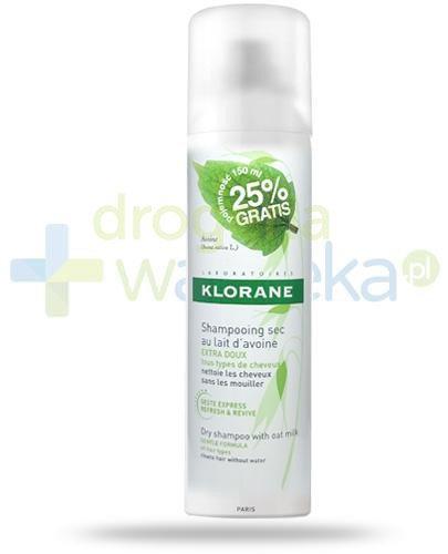 Klorane suchy szampon na bazie mleczka z owsa 150 ml