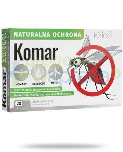 Komar naturalna ochrona przeciw owadom 20 kapsułek   whited-out