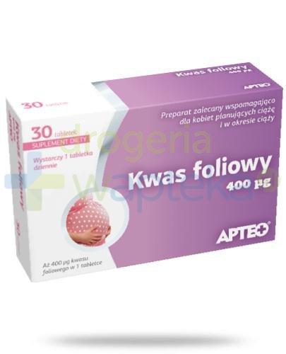 Apteo Kwas foliowy 0,4 mg 30 sztuk