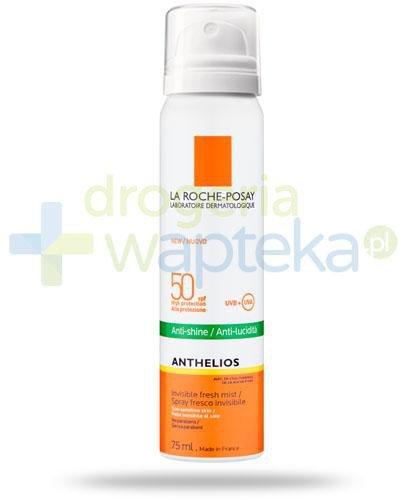 La Roche Anthelios SPF50 mgiełka do twarzy przeciw błyszczeniu się skóry wrażliwe...  whited-out