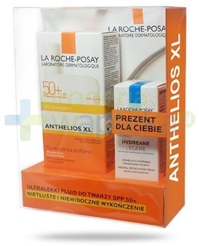 La Roche Anthelios XL ultralekki fluid do twarzy SPF50+ 50 ml + Hydrane Legere nawilżają...  whited-out