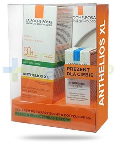 La Roche Anthelios XL ZESTAW żel krem przeciw błyszczeniu się skóry SPF50+ do twarz...  whited-out