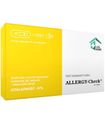 LabHome Allergy-Check szybki test do wykrywania przeciwciał IgE 1 test