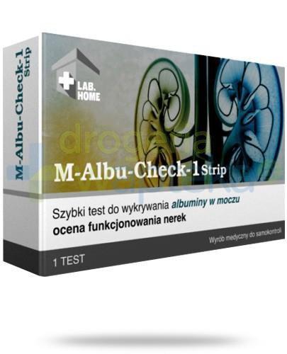 VedaLab M-Albu Check-1 test paskowy do oceny funkcjonowania nerek 1 sztuka