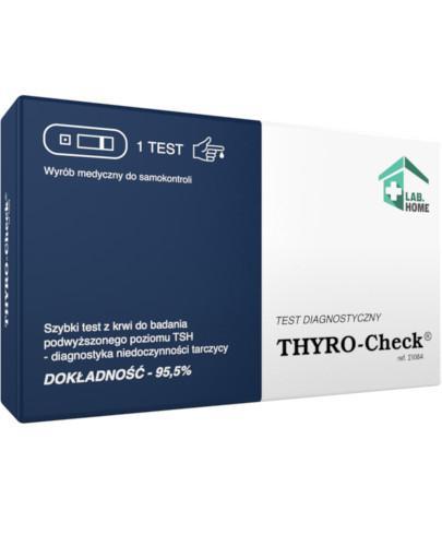 LabHome Thyro Check test płytkowy do diagnozowania niedoczynności tarczycy 1 sztuka