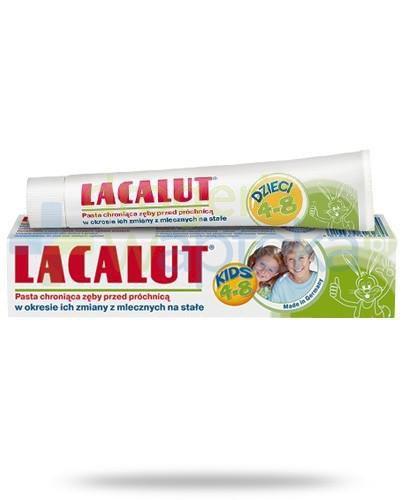 Lacalut Kids pasta chroniąca zęby przed próchnicą dla dzieci 4-8 lat 50 ml