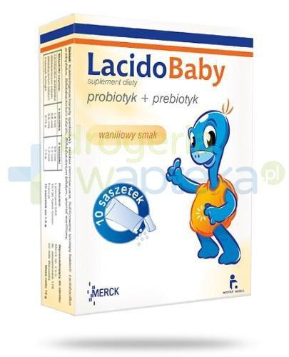 LacidoBaby z witaminą C smak waniliowy 10 saszetek  whited-out