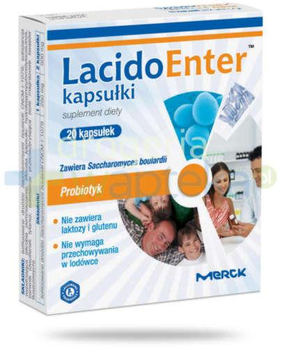 LacidoEnter probiotyk 20 kapsułek  whited-out