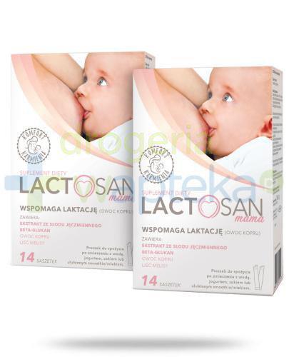 Lactosan Mama wspomaga laktację 2x 14 saszetek [DWUPAK]