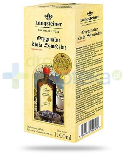 Langsteiner Oryginalne Zioła Szwedzkie płyn na trawienie 1000 ml