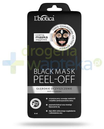 Lbiotica Black Mask Peel Off czarna maska węglowa głęboko oczyszczająca 8 ml