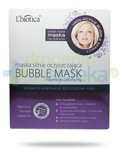Lbiotica Bubble maska silnie oczyszczająca 23 ml