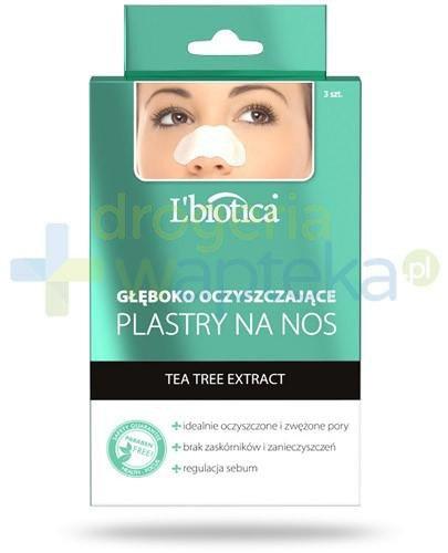Lbiotica głęboko oczyszczające plastry na nos z ekstraktu drzewa herbacianego 3 sztuki