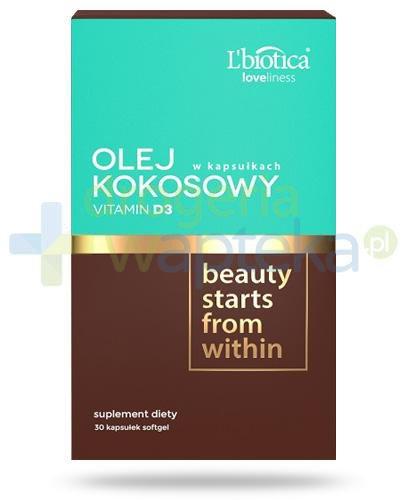 Lbiotica Loveliness Olej kokosowy + Vitamin D3 30 kapsułek