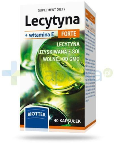 Lecytyna + witamina E Forte 40 kapsułek  whited-out