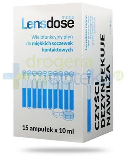 Lensdose Mono wielofunkcyjny płyn do miękkich soczewek kontaktowych 15x 10 ml  whited-out