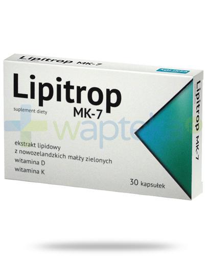 Lipitrop MK-7 ekstrakt lipidowy z nowozelandzkich małży zielonych 30 kapsułek [Reumatro...