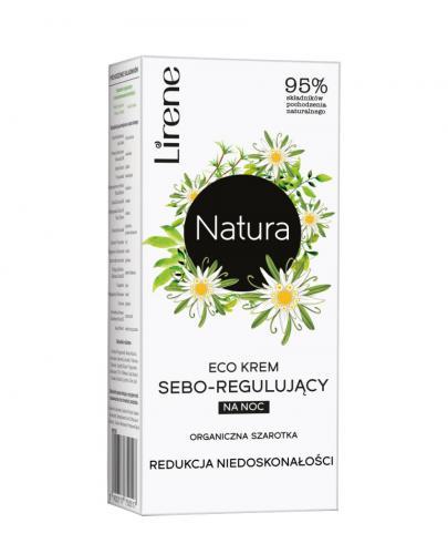 Lirene Eco krem sebo-regulujący na noc 50 ml + Tonik nawilżający 200 ml [GRATIS]