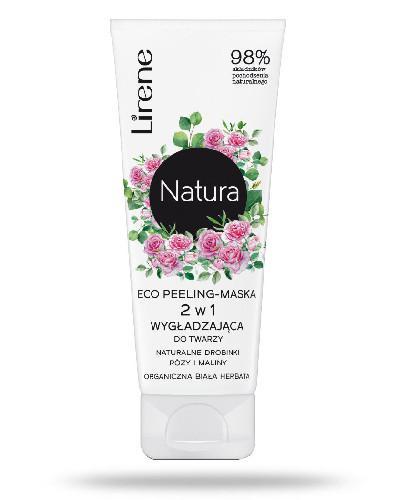 Lirene Natura Eco peeling-maska 2w1 wygładzająca do twarzy 75 ml + Balsam brązujący d...