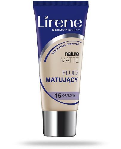 Lirene Nature Matte fluid matujący 15 opalony 30 ml