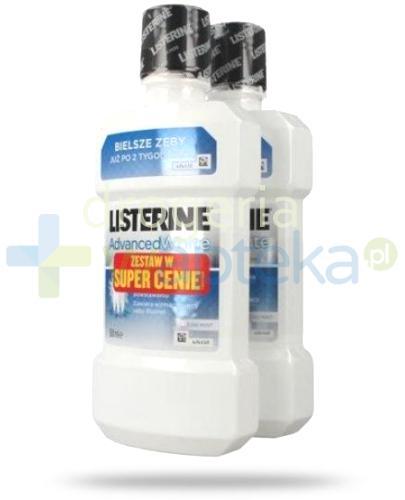 Listerine Advanced White płyn do płukania jamy ustnej 2x 500 ml [DWUPAK]