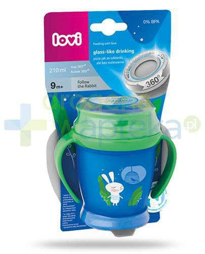 Lovi Follow the Rabbit 360° kubek dla dzieci 9m+ 210 ml [1/535_new]