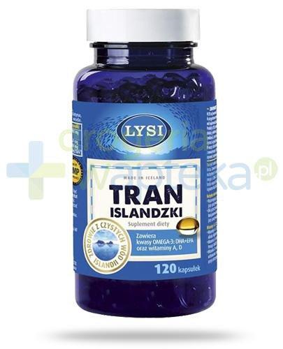 LYSI Tran Islandzki 120 kapsułek  whited-out