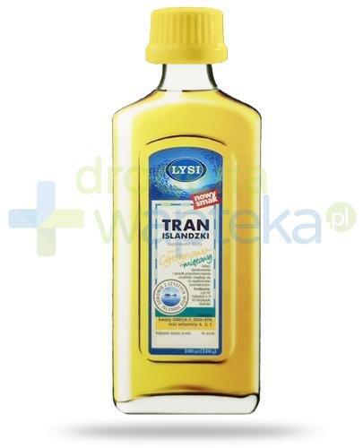 LYSI Tran Islandzki smak cytrynowo-miętowy 240 ml  whited-out