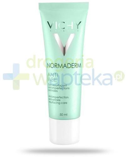 Vichy Normaderm krem przeciwzmarszczkowy zwalczający niedoskonałości do skóry wrażliwej 50 ml [KUP 2 produkty marki Vichy = żel do higieny i sanityzacji rąk 200 ml GRATIS]