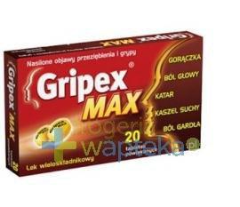 Gripex Max 20 tabletek USTAWA!