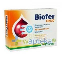 Biofer Folic 80 tabletek  whited-out
