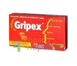 Gripex 24 tabletek powlekanych USTAWA!