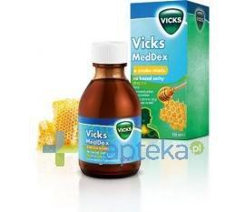 Vicks MedDex syrop miodowy na kaszel suchy 120 ml USTAWA!