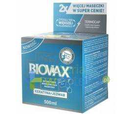 BIOVAX Maseczka keratyna + jedwab 500 ml  whited-out