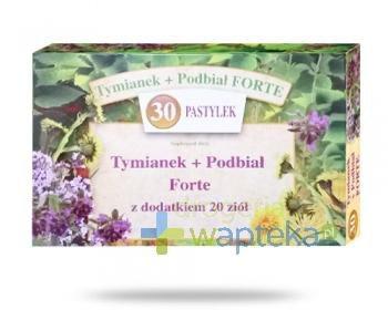 Tymianek i Podbiał Forte z dodatkiem 20 ziół 30 pastylek