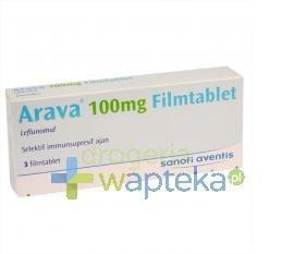 Arava 100mg tabletki powlekane 3 sztuki