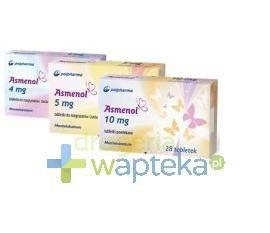 Asmenol 4 mg tabletki do rozgryzania i żucia 28 sztuk