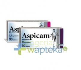 Aspicam 15 mg tabletek 20 sztuk