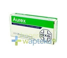 Aurex 20 tabletki powlekane 20 mg 20 sztuk