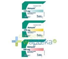 Azimycin tabletki powlekane 500 mg 3 sztuki