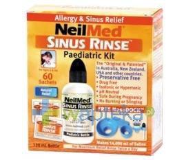 Sinus Rinse Pediatric Kit zestaw podstawowy do płukania nosa i zatok dla dzieci