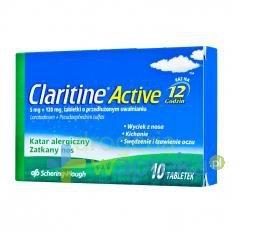 Claritine Active 5 mg + 120 mg tabletki o przedłużonym uwalnianiu 10 sztuk USTAWA!
